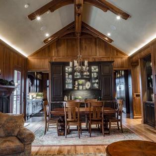 Walnut wrapped sitting room