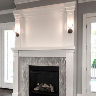 White painted mantle
