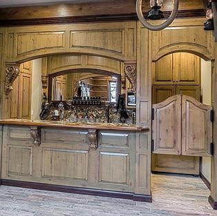 Saloon with custom double swing doors