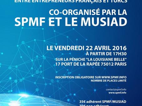 22 avril 2016 - Soirée B2B co-organisée par la SPMF et le MÜSIAD