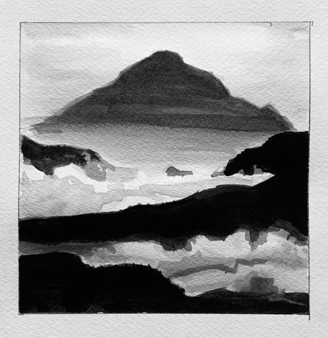 Ink Landscape Study