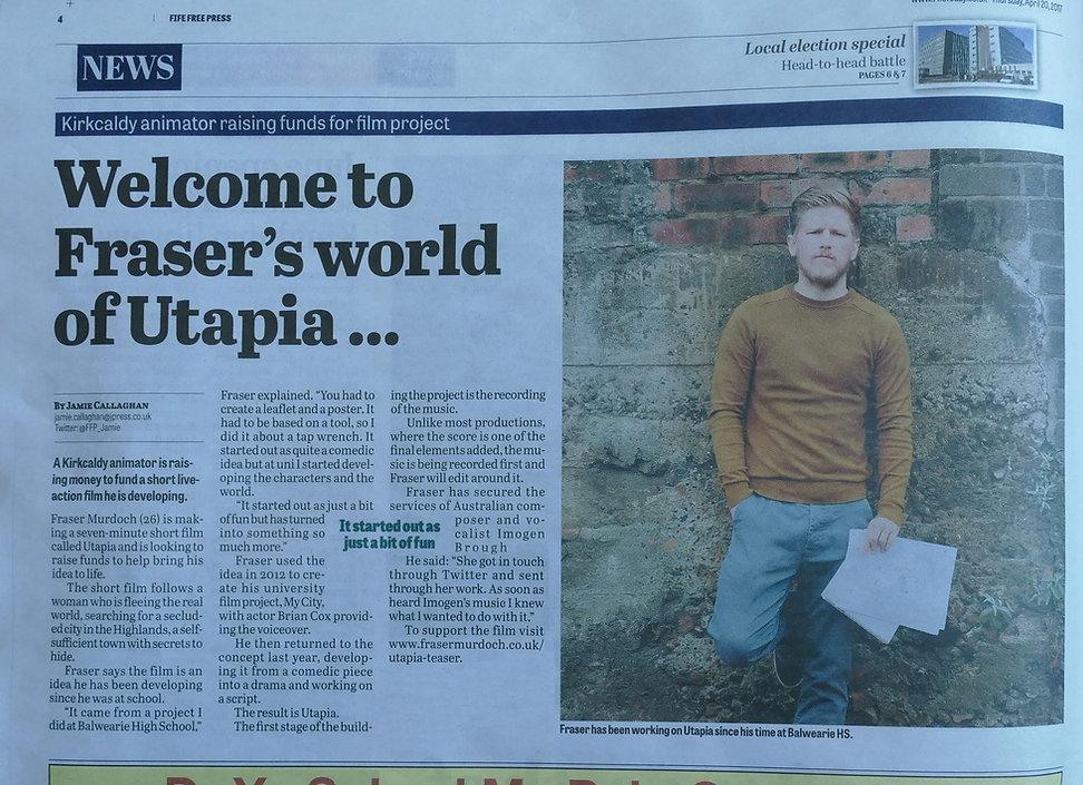 Welcome to Fraser's world of Utapia - Fi