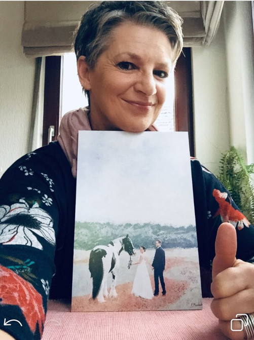Printed digital portrait - wedding - gift