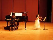 ヴァイオリンとピアノの発表会