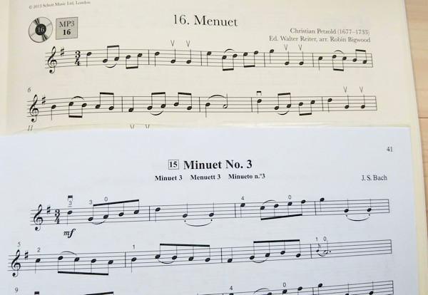 バイオリン メヌエット バッハ