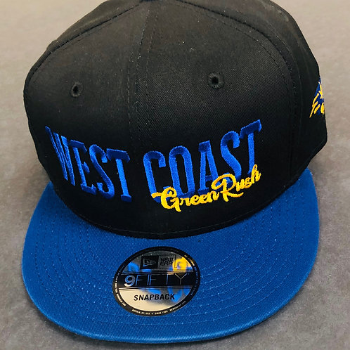 Blue and Gold snapback hat