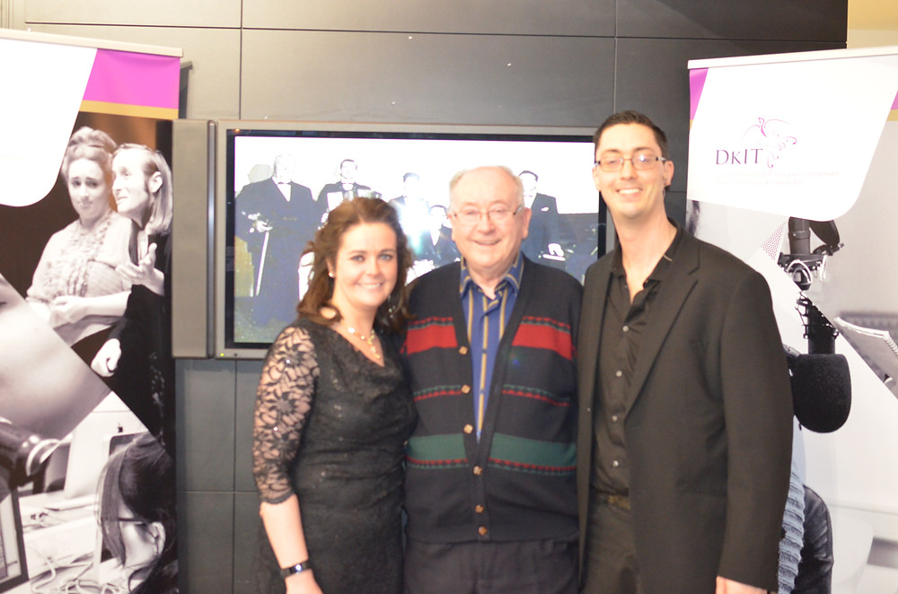 Brian O'Kane with Adèle and Daithí