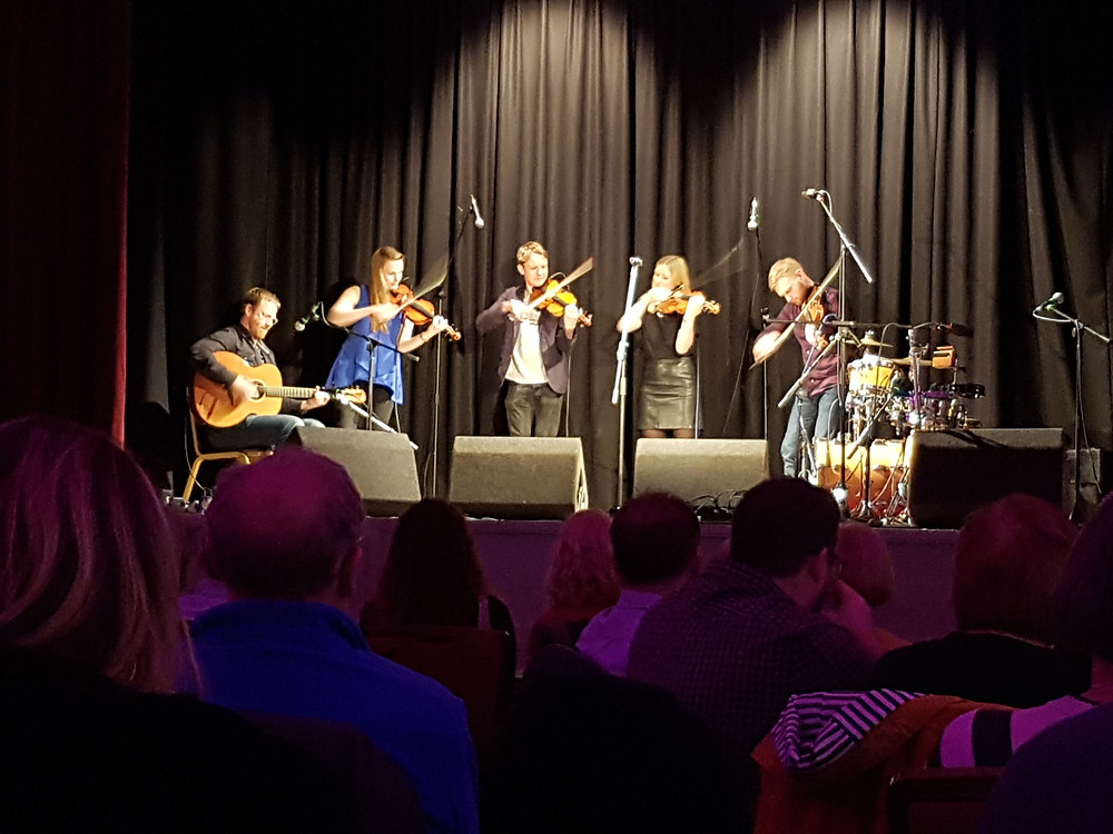 Fochabers Fiddle Week Tutors on stage