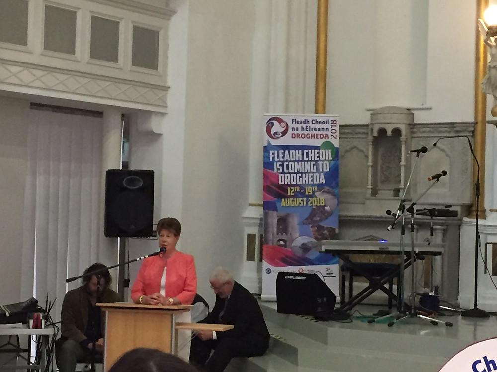 Lolo Robinson at launch of Fleadh Cheoil na hÉireann 2018