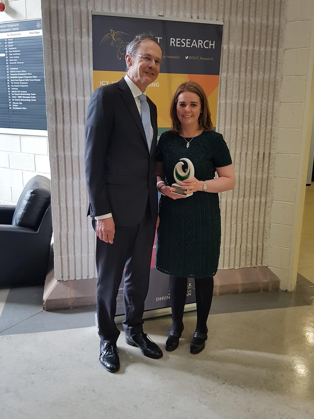 Adèle with DkIT President Dr Michael Mulvey