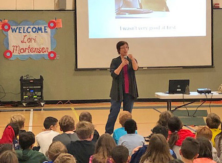 Author Day at William Brooks Elementary