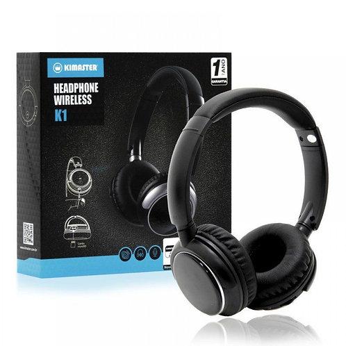 Fone de Ouvido Headphone Kimaster Bluetooth K1