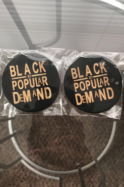 Black By Popular Demand earrings