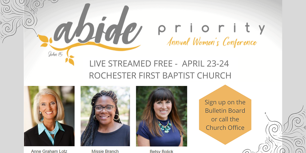 """Women's Priority """"Abide"""" Conference"""