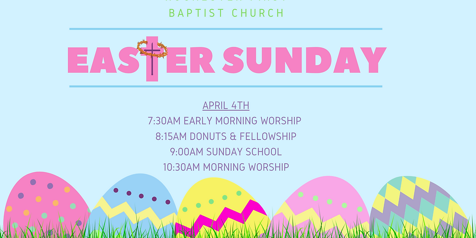 Easter Sunday - April 4th