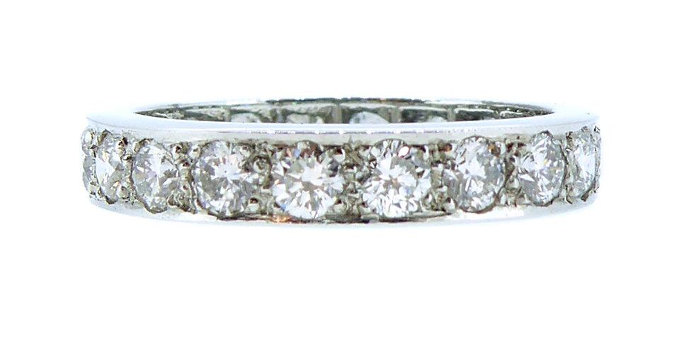 Vintage 1950's 2.00 Carat Diamond Full Eternity Ring, Platinum Band