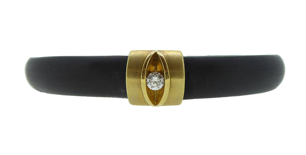 Avant Guarde Diamond Bangle, Rubber Tension Set, Bunz Design