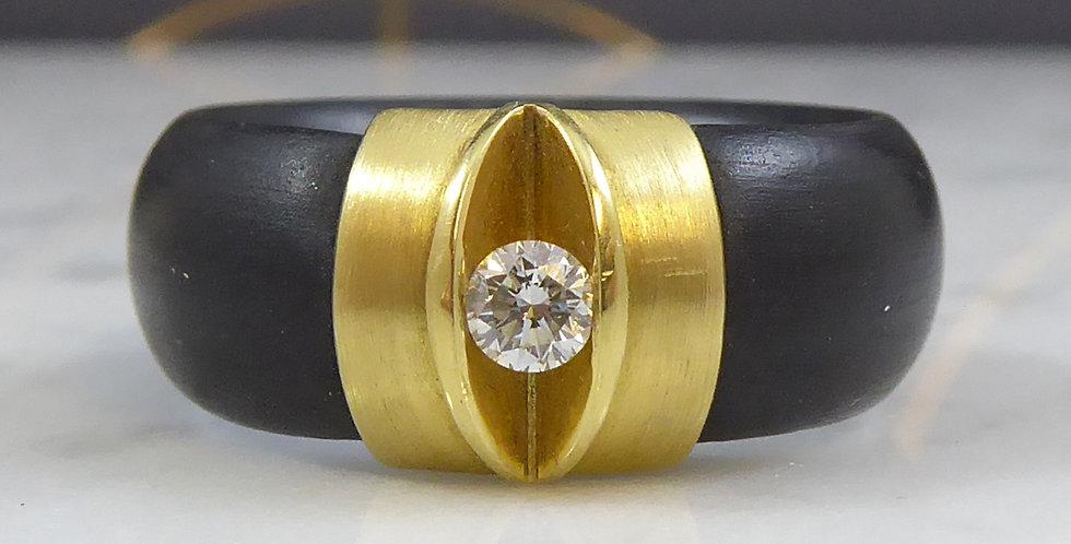 Avant Guarde Diamond Ring, Rubber Tension Set, Bunz Design