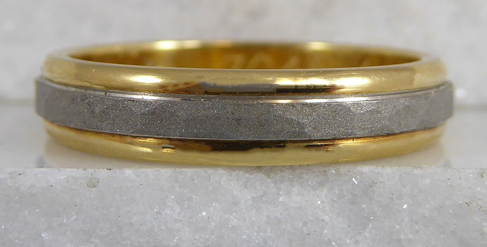 Modern wedding band for women shown from the front view