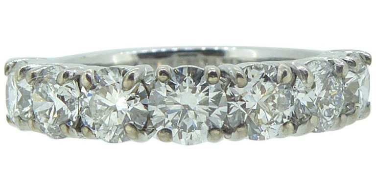 2.14 Carat Diamond Eternity Ring, 18 Carat Gold Pre Owned, London, 2014