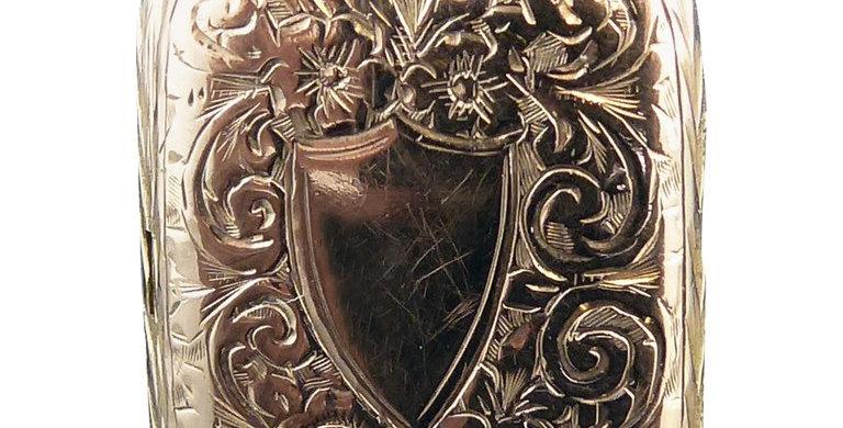 Antique Edwardian Book Locket, 9 Carat Rose Gold, Hand Engraved