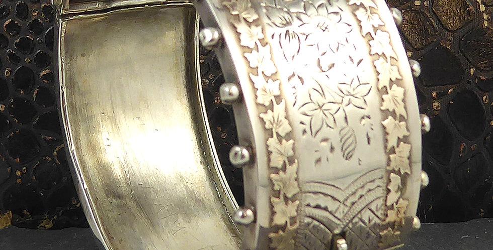 Antique Victorian Silver Bangle