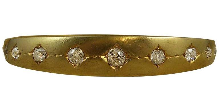 Victorian 2.78 Carat Diamond Bangle, Circa 1890s