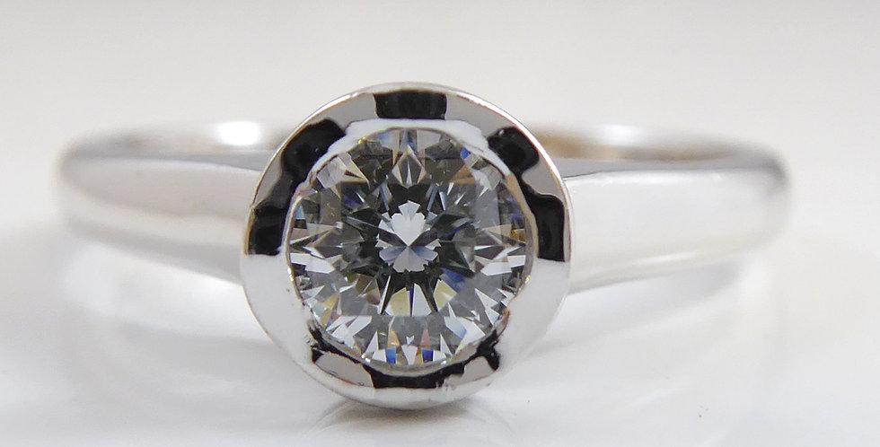 """Diamond Solitaire Ring in """"Lattice"""" Mount, Andrew Geoghegan Design"""