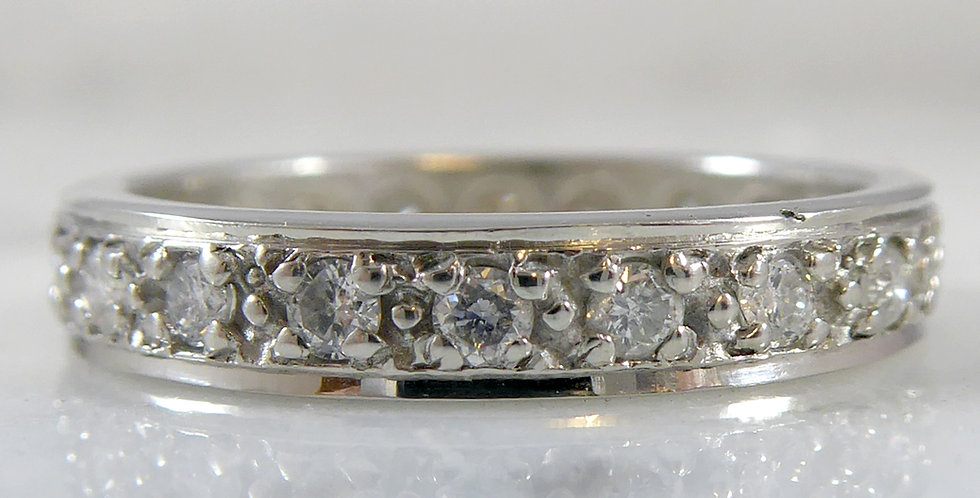 Vintage Art Deco Style 0.56 Carat Diamond and Platinum Eternity or Wedding Ring,