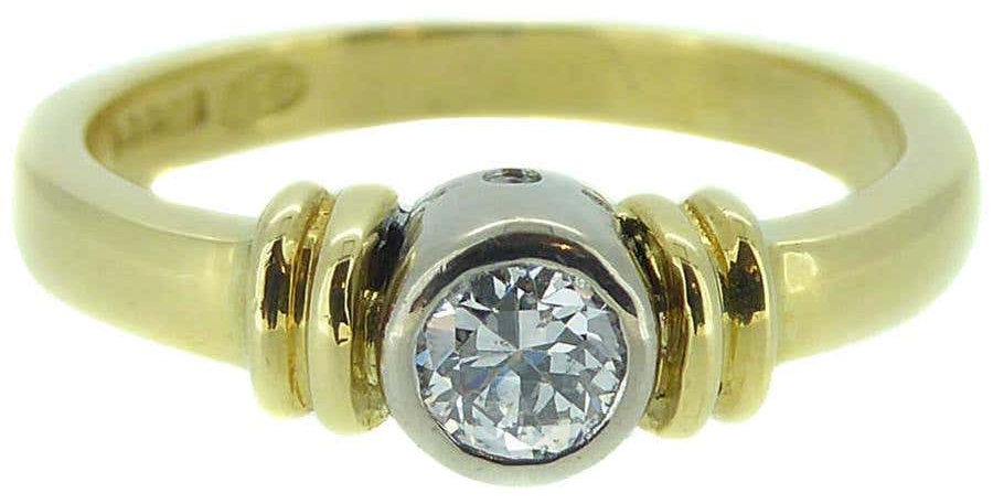 Vintage Engagement Ring, 0.20ct Old Cut Diamond Solitaire, 18 Carat Yellow Gold