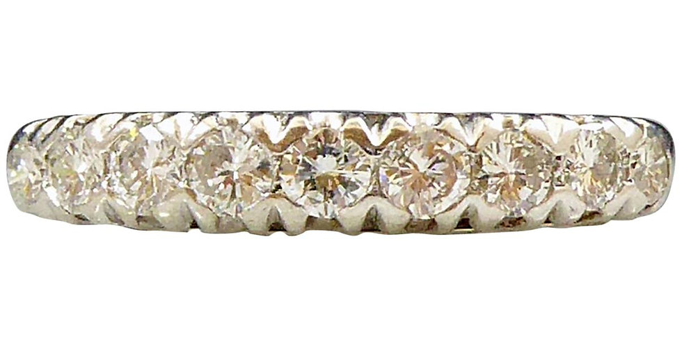 Vintage diamond eternity ring