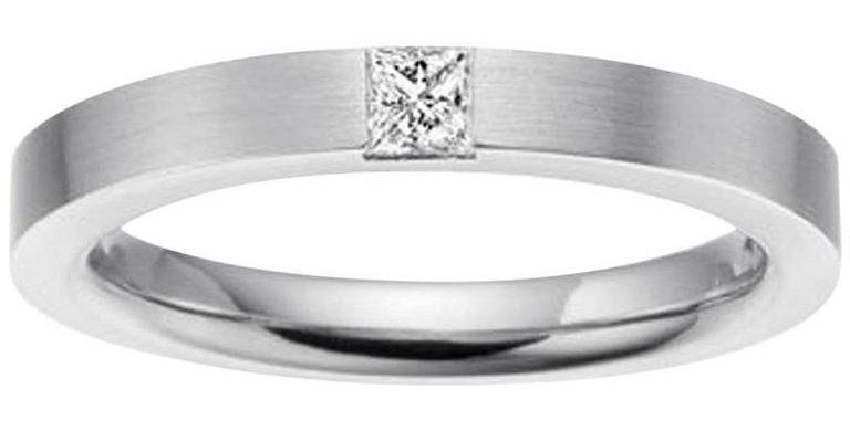 D Flawless Princess Diamond Solitaire Ring, Platinum