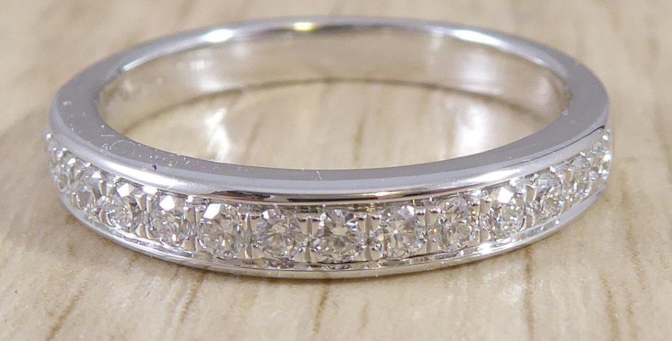 Diamond Eternity or Wedding Ring, White Gold, New and Unworn