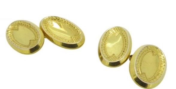 Antique Gold Cufflinks, Hallmarked Chester 1911