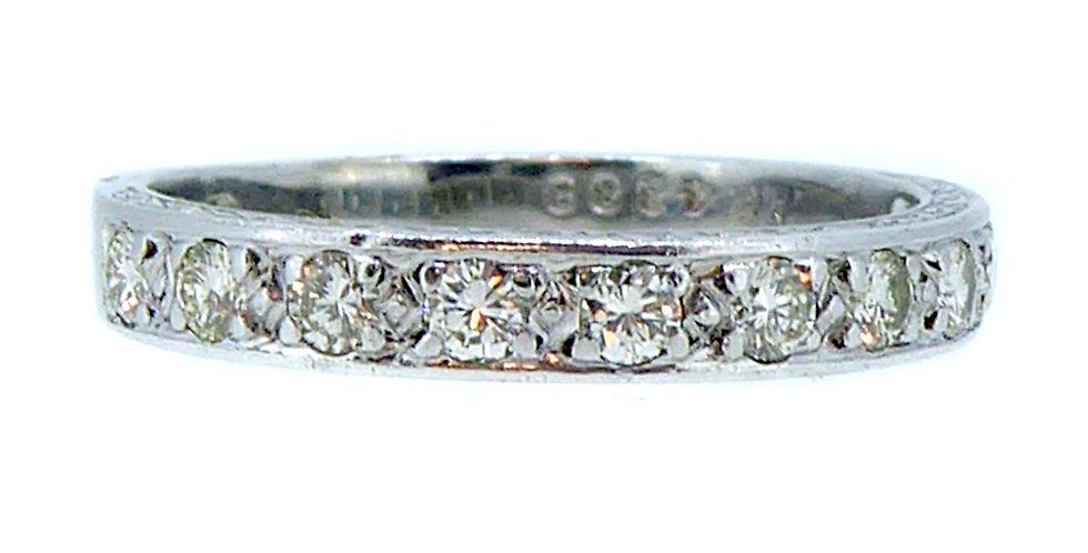 Vintage Diamond Wedding Ring, 0.33ct , White Gold