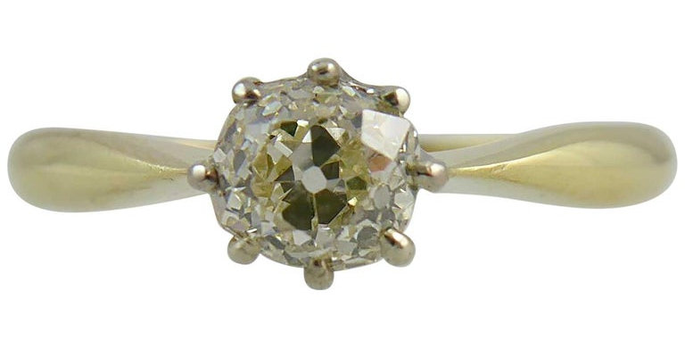 Vintage diamond ring, single stone setting