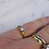 Vintage diamond ring with solitaire diamond on woman's hand