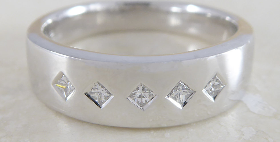Five Stone Diamond ring front view