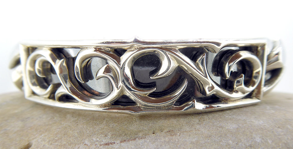 Stephen Webster silver ID bracelet for men, Thorn Pattern