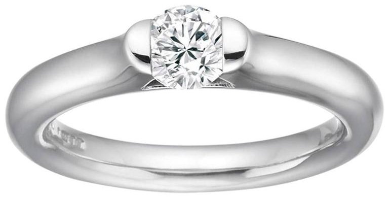 Diamond Solitaire, D Flawless, 0.17 Carat