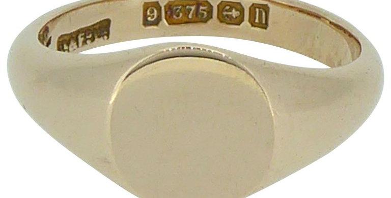 Antique Signet Ring, 9ct Rose Gold Hallmarked 1912