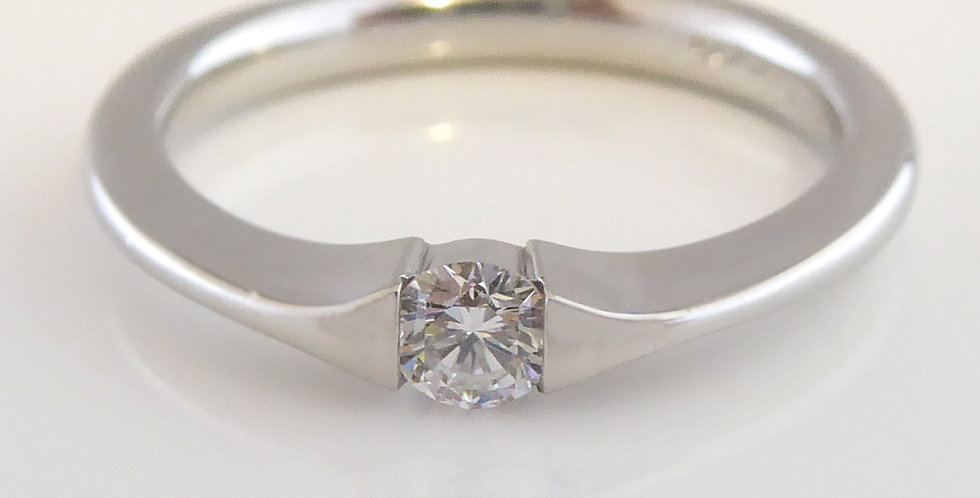 D Flawless Solitaire Ring in Platinum, Paul Spurgeon Design