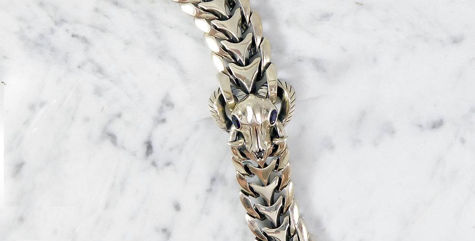 Stephen Webster Silver Ram's Skull Bracelet