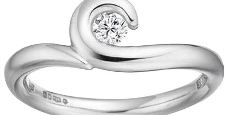 Engagement Ring, D Flawless Diamond Solitaire Platinum, Award Winning Designer