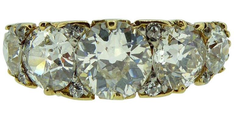Victorian 3.18 Carat Diamond Ring, Old European Cut Diamonds, circa 1890