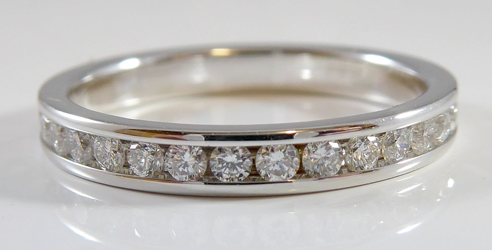 Pre-owned Diamond Wedding or Eternity Band, Stacking Style, 18ct White Gold