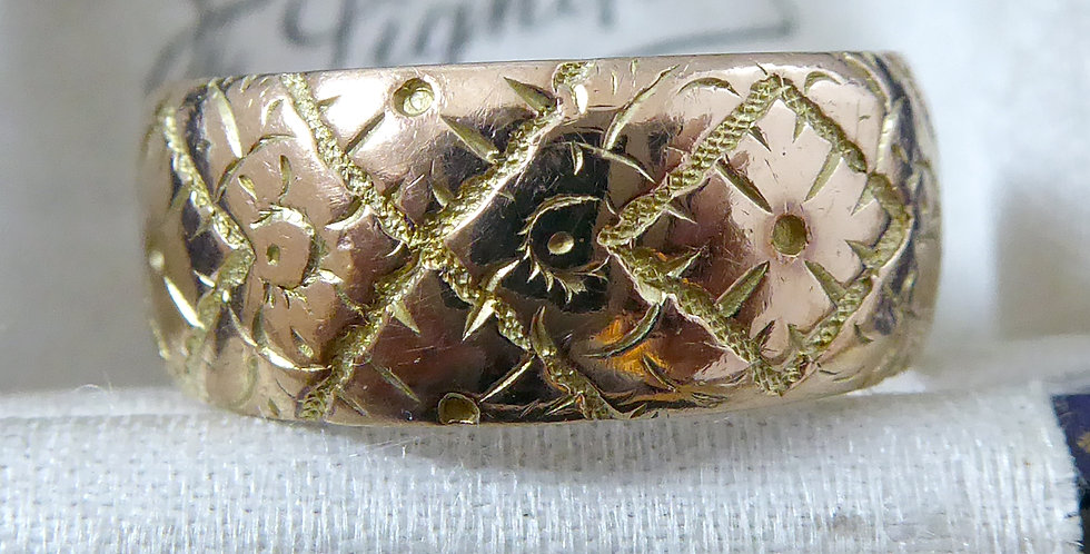 Antique Wedding Ring, patterned