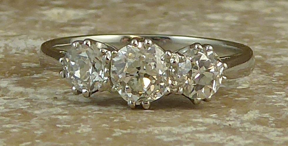 1.10 Carat Old Cut Diamond Engagement Ring