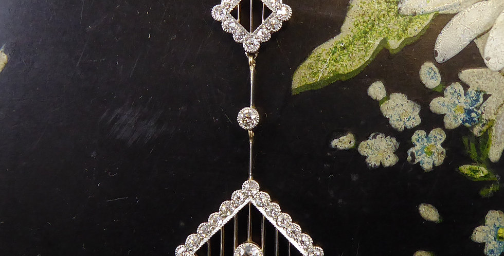 Antique Old Cut Diamond Pendant, Circa 1915