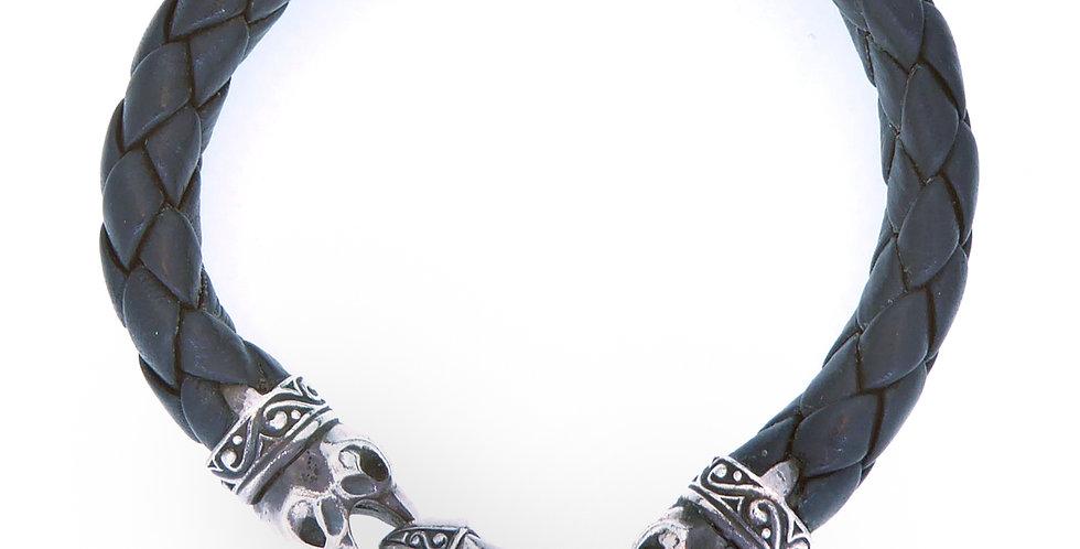 Stephen Webster Beasts of London Leather and Silver Bracelet for Men